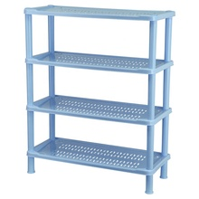 Cheap Saving Space 4 Layers Storage Rack Foldable Plastic Holder Storage <strong>Shelf</strong>
