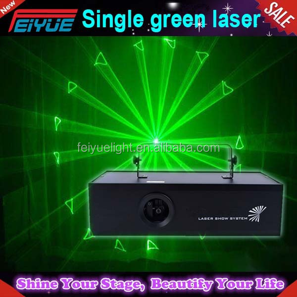 Professional Single Green Laser 1w Projector (lasorb,Shutter Optional) Ilda,Dmx,Safety Board,Analogue Modulation