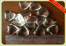 heart shaped clear glass arts for decoration