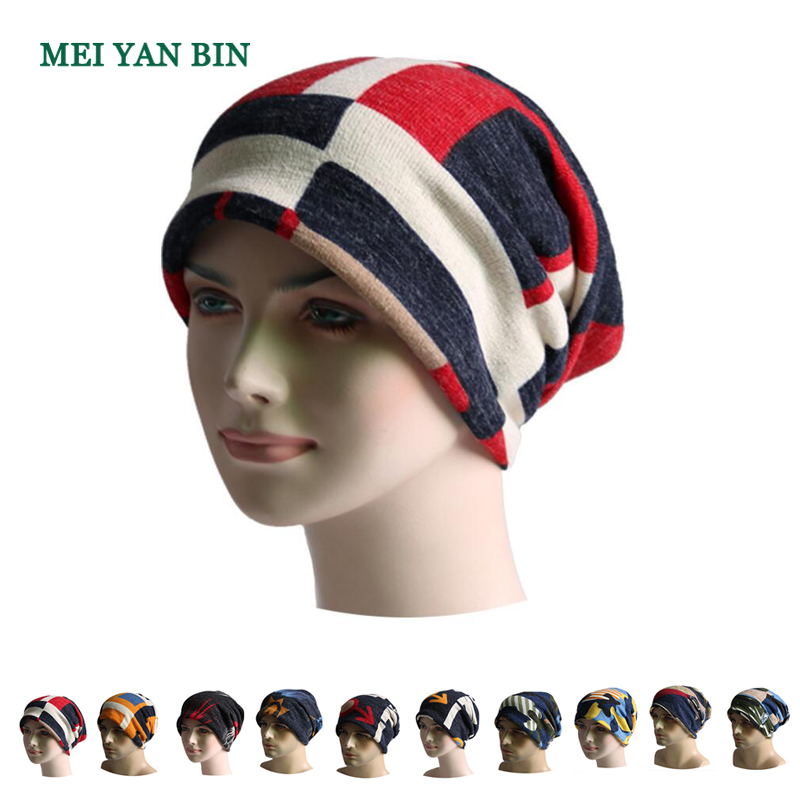 EAI colorful multifunctional fleece lined snowboard ponytail hat winter woolen beanie hats