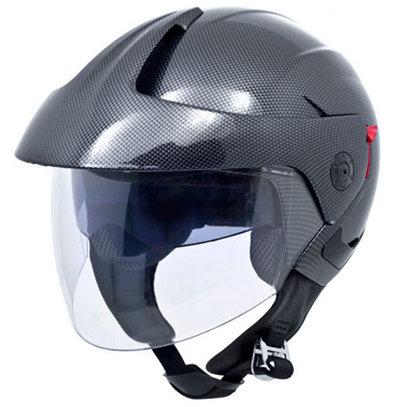 Motorcycle scooter helmet 3/4 open face with dual visors