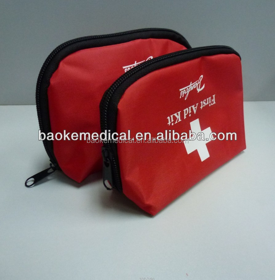 BK-K43 Customized Logo Printing First Aid Kit Bag/First Response Pouch/Road Trip First Aid Kit