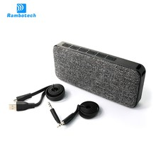 2017 High Quality Vibration Waterproof Speaker Bluetooth with Microphone for Hands-free Call RS600
