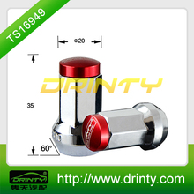 chrome wheel nut with aluminum cap for racing car