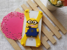 Fashion Universal Cute Cartoon Characters Silicone Frame Case For Various Smart Phones
