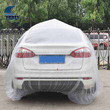 375pcs size S disposable plastic car cover for temporary using