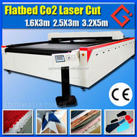Large format polyester fabric laser machine cutting with CE