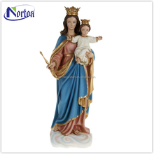 Wholesale christ fiberglass virgin mary and baby statue NTBA-271L