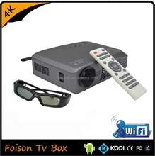Built-in Wifi DLP Style Smart 3D 4K projector for home theater with CE Rohs certification