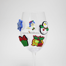 Party favor xmas wine identifier rubber cup identifier