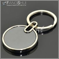 China newest plain round keyrings promotional/round promotional metal key chain china supplier