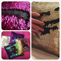 More colors in stock Facebook Pillow Cover change Colors Reversible Sequin Fabric