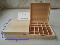 China factory Pind wood Packaging Wooden Essential oil box