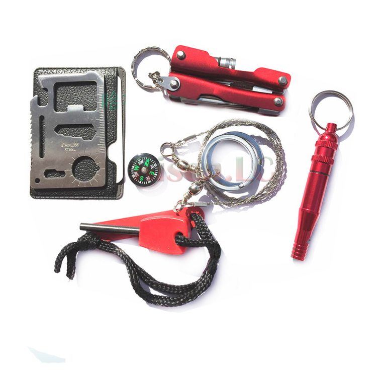 Outdoor Emergency Survival Kit Tactical Survive Tool Gear,Emergency Disaster Survival Kit