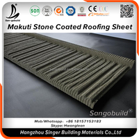 Natural sand never fade Corrugated galvanized zincalume stone coated metal roof sheets