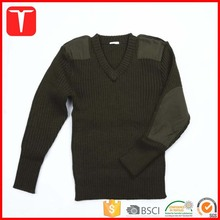 Western style uniform green army sweater