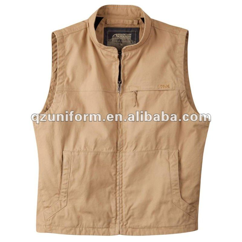 Hot!Men's Sleeveless Brown Working Vests any design is available