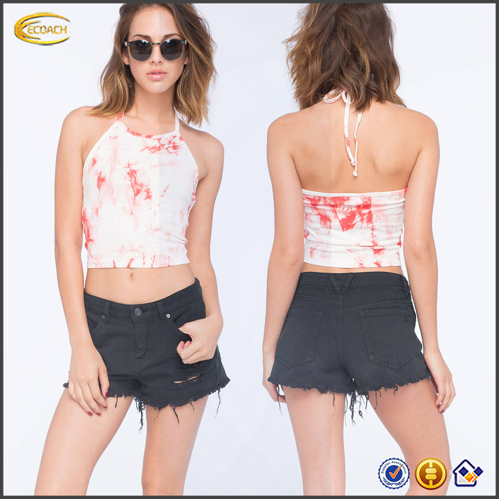 Wholesale High & Waisted Denim Shorts Traditional Jeans Five Pockets Style With Frayed Hem At Leg Openings Short Pants For Women