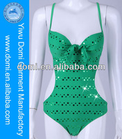 Hot Sale Mint Metallic Dot Fashion One Piece Swimsuit Full Sexy xxx Bikini Girl Swimwear Photos