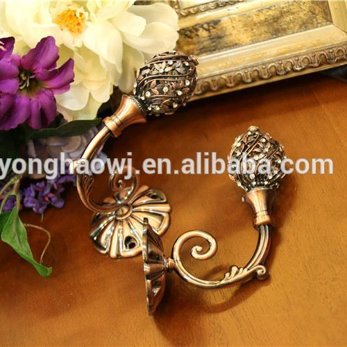 Factory supply vintage metal plated iron wall curtain hook