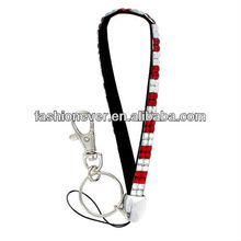 Red and Clear Checkered Sparkling Crystal Keychain