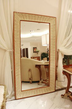 Wooden living room bedroom full length mirror buy for Full length mirror in living room