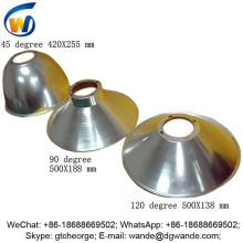 45 60 90 120 degree anodized aluminum lamp shade