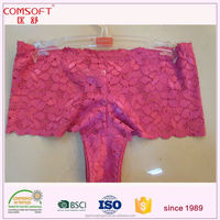 french rose red lace sissy panties women boyshorts