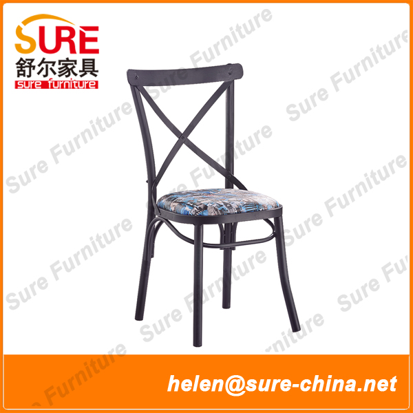 Wholesale Colorful Cross Back Dining Chair Without Arms