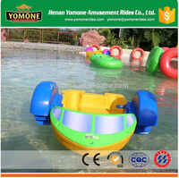 Mini water amusement rides plastic kids hand paddle boat for pool