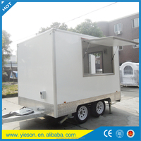 caravan kitchen food van / top sell big cake food combine kitchen equipment trailer / big quantity supply bagel food cart