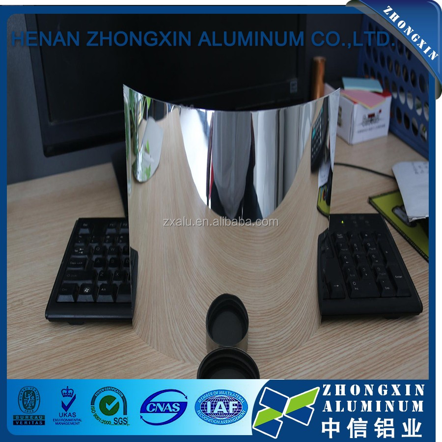 High reflective rate Mirror polished aluminum sheets price per ton