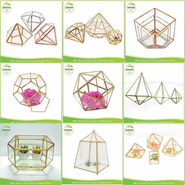 2017 fashion Indoor air plants terrarium vase crystal candelabra // Hot Sale Garden Decorative geometric ceramic flower pot