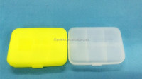 Colored 6 case plastic medicine box / pill case / pill holder