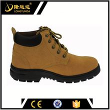Cheap swede leather high heel steel toe safety shoes with CE certificate