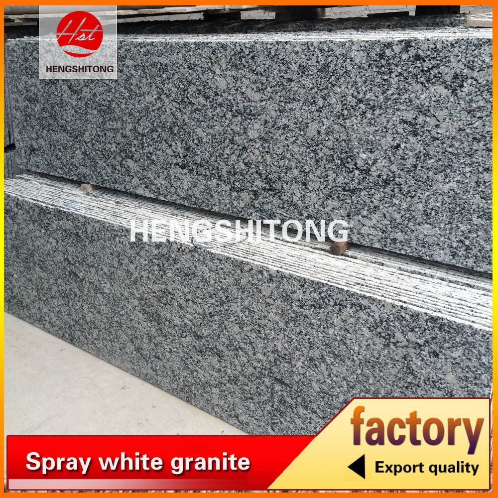 Spray white granite flamed granite stone wall tiles