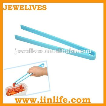 Blue light chopsticks silicone food tongs