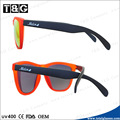 Custom logo sunglasses with plastic frame good price in China wholesaler