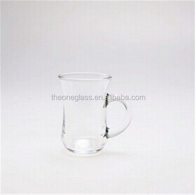 cheap horn glass mug with handle