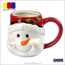 Custom Christmas Gift Snowman Mug Coffee Cup Ceramic