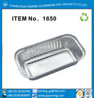 foil containers NO.6a and NO.2 take away aluminium foil containers for restaurant with lid.