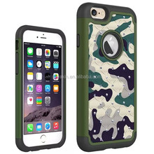 Strong soldier case for iPhone 6 unique defender;custom sticker for iPhone 6 silicon case with camo pattern