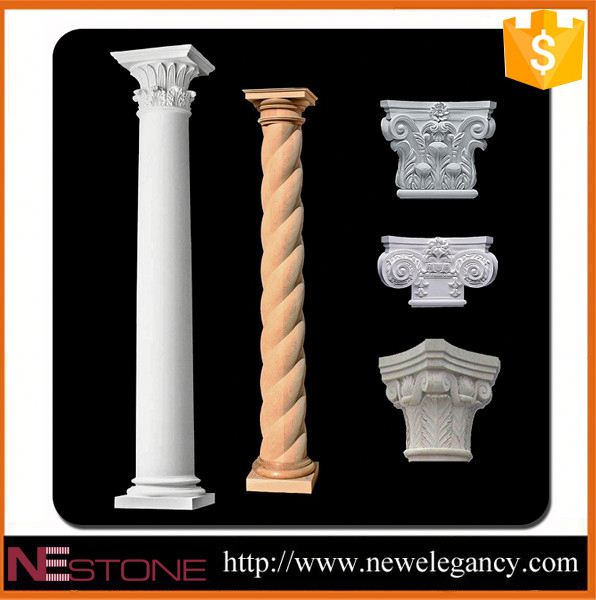 2017 hot sale natural well quality decorative greek marble columns for sale