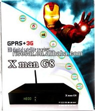 GPRS+3G HD Satellite Receiver With 2 USB Wifi+Dual Tuner+Scart+Patch x man g8