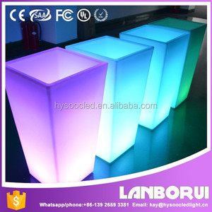 2016 Hot Sales Garden Square Waterproof LED Lighting Glow Flower Pot