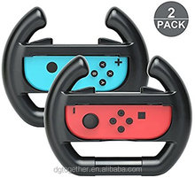 Arrela 2 Pack Controller Direction Manipulate Steering Wheel Grip Handle for Left & Right for Switch Joy-Con Controllers
