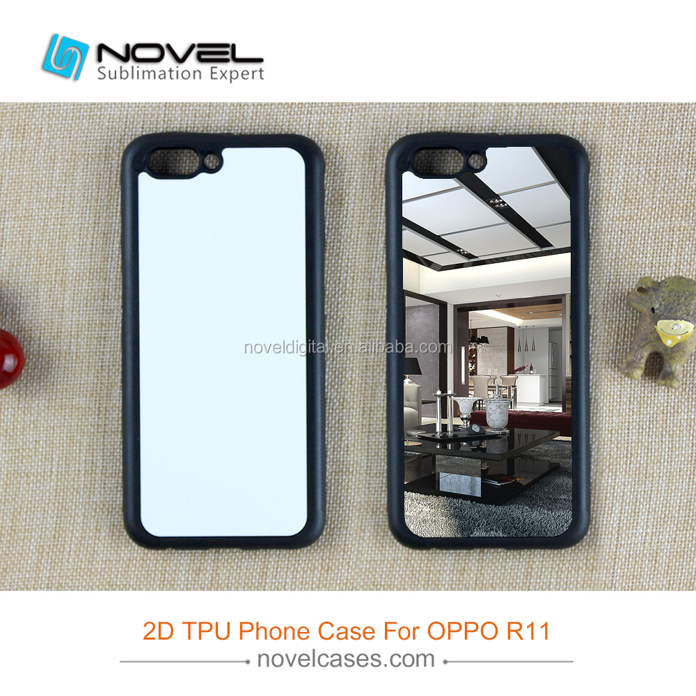 2D Soft Rubber Cellphone Case For Oppo <strong>R11</strong>,Diy Sublimation Blank Cover