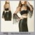 New Arrival Long Tiered Bell Sleeve Factory Price Women's Velvet Polka Dot Crop Top
