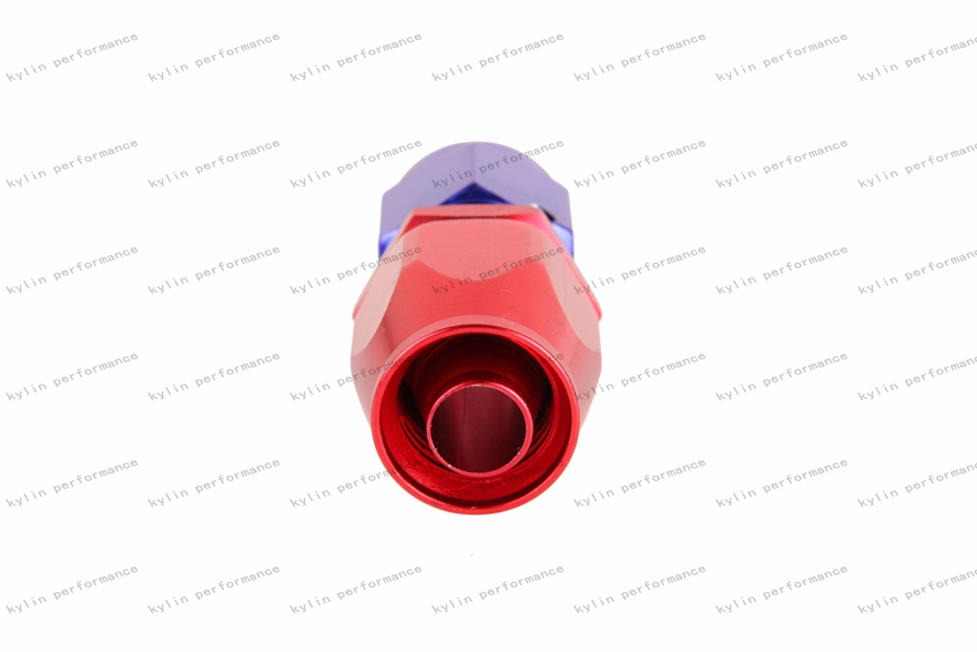Kylin racing AN-10 Straight Purple and Red Oil Cooler Hose Fitting