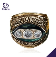AAA CZ set gold plating Green bay packers world championship mens rings